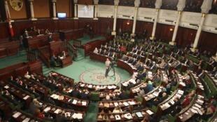 Le Parlement tunisien, le 4 février 2015 à Tunis.