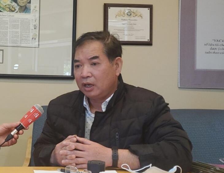 Ông Khôi Nguyên, tổng thư ký tòa soạn báo Người Việt, Quận Cam, Califorina, Hoa Kỳ. Ảnh chụp ngày 06/02/2021.