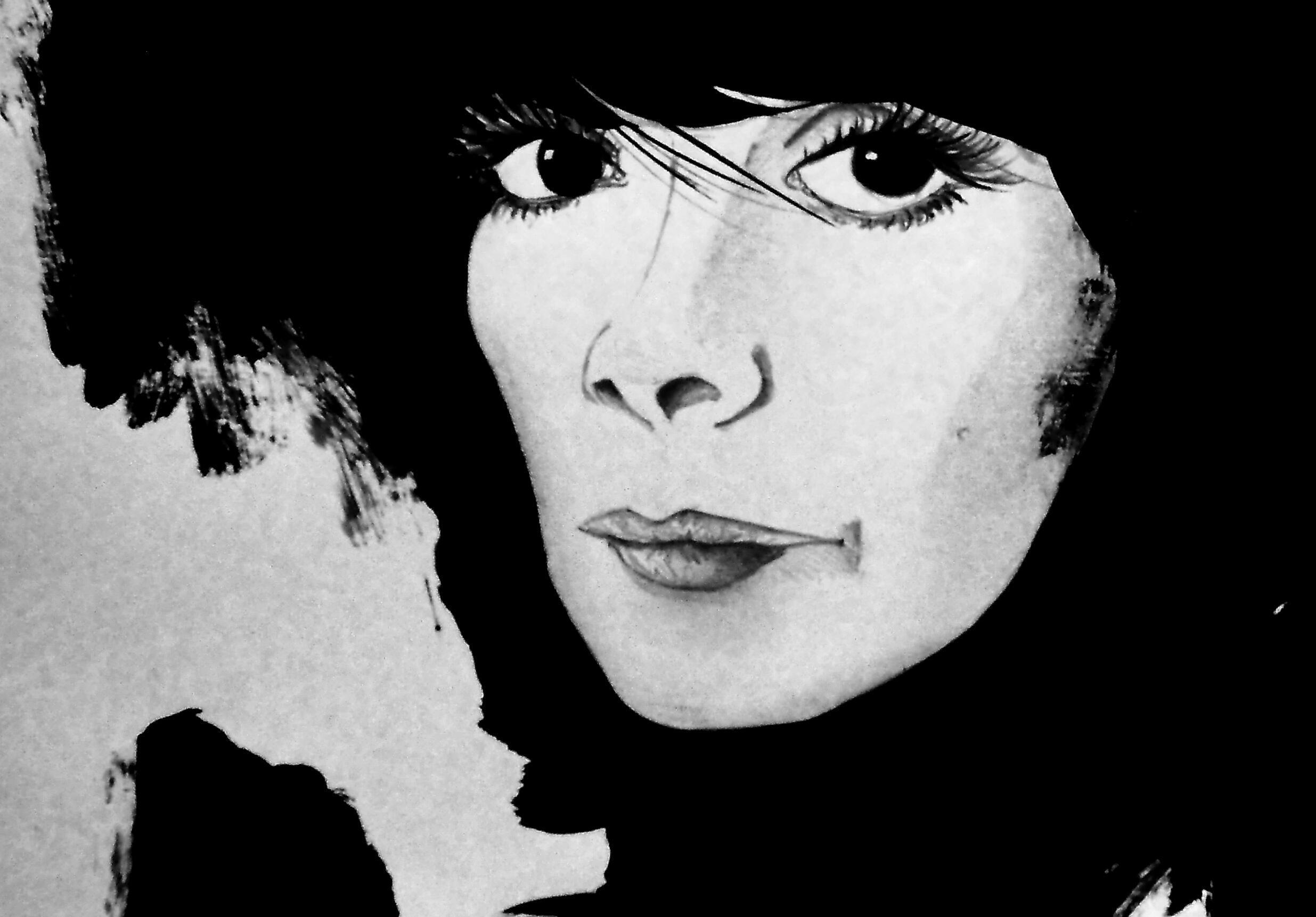 Dessin réalisé à partir de «Ecouter Paris avec Juliette Gréco».