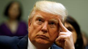 Le président des Etats-Unis, Donald Trump, à la Maison Blanche, le 13 mars 2017.