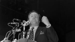 Jean-Marie Le Pen, leader du FN, lors des élections législatives de 1973.