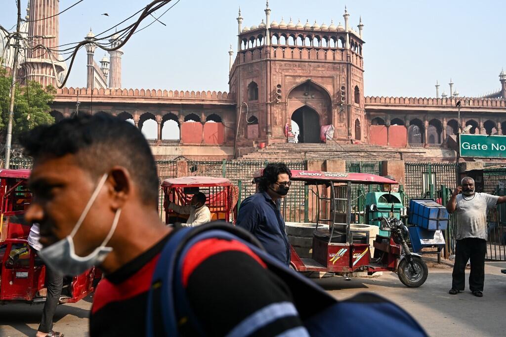 Một góc khu phố cổ ở thủ đô New Delhi, Ấn Độ, ngày 17/10/2020.
