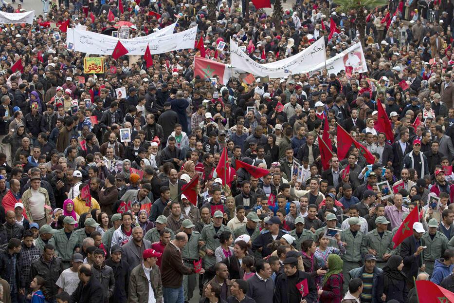 Manifestation à Casablanca le 28 novembre 2010