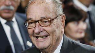 A file photo of former President Jacques Chirac in 2014.