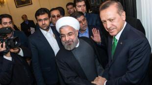 دیدار حسن روحانی- رییس جمهور اسلامی ایران با نخست وزیر ترکیه -  رجب اردوغان در تهران. چهارشنبه ۹ بهمن/ ٢٩ ژانویه ٢٠١٤