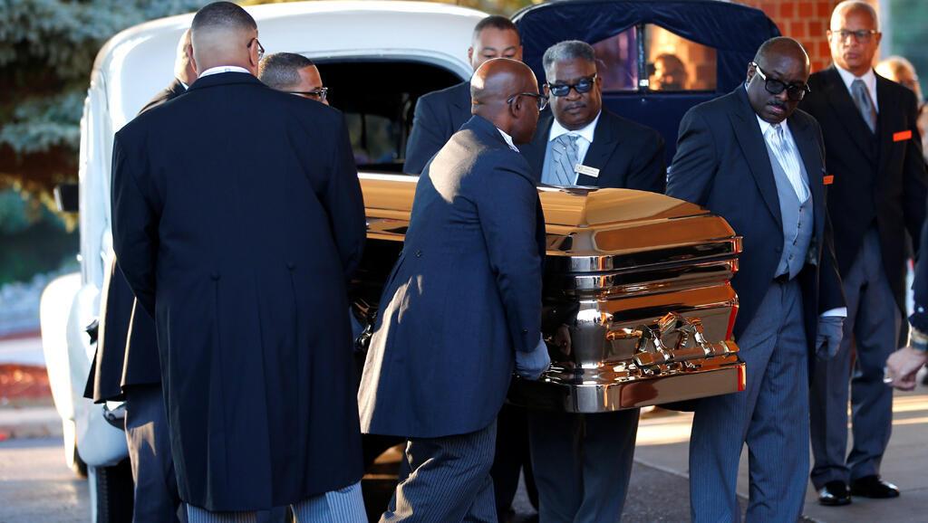 O funeral de Aretha Franklin na igreja Greater Grace Temple de Detroit a 31 de Agosto de 2018.