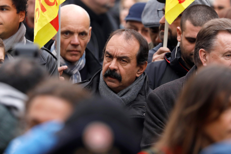 CGT leader Philippe Martinez on Thursday's demonstration in Paris