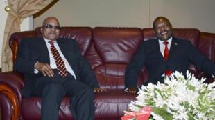 Shugaban kasar Afrika ta kudu, Jacob Zuma da takwaransa na Burundi  Pierre Nkurunziza