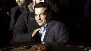 El líder de  Syriza, Alexis Tsipras, el 25 de enero en Atenas.