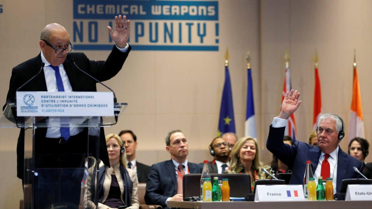 نشست همکاریهای بینالمللی به منظور مجازات استفادهکنندگان از سلاح شیمیایی در سوریه به مدت دو روز در پاریس برگزار شد