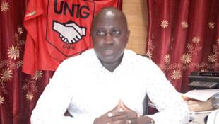 Manifestação em Bissau de trabalhadores da central sindical UNTG contra o governo