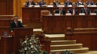 Le Parlement roumain, le 9 février 2012.