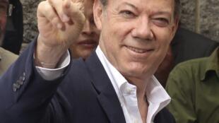 Juan Manuel Santos, le vainqueur de l'élection présidentielle en Colombie