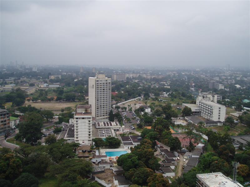 Vue aérienne de Kinshasa