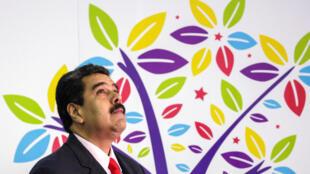 Le président vénézuélien Nicolas Maduro, lors de la cérémonie d'ouverture du 17e Sommet des pays non-alignés à Porlamar, au Venezuela, le 17 septembre 2016.