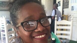 La romancière Kettly Mars à Port-au-Prince, mai 2016.