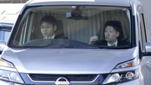 Carlos Ghosn llega al centro de detención de Tokio, el 4 de abril de 2019.