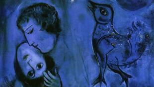"""Paisaje azul"", Marc Chagall, 1949."