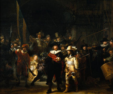 """Phiên gác đêm """"De Nachtwacht"""", tác phẩm nổi tiếng nhất của Rembrandt"""