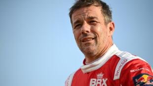 Le pilote français Sébastien Loeb, à la veille du checkup du Rallye du Dakar, le 31 décembre 2020 à Jeddah (Arabie Saoudite)