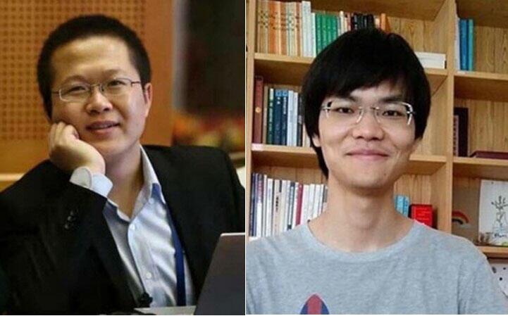 端点星网站志工陈玫(左)与蔡伟(右)。