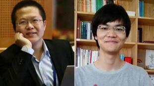 端點星網站志工陳玫(左)與蔡偉(右)。