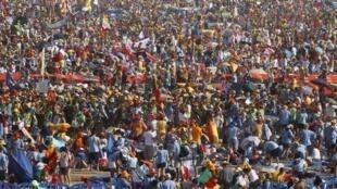 Mais de um milhão de pessoas se reuniram no JMJ 2011, em Madri, na Espanha.