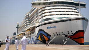 The AIDAprima, flagship of AIDA Cruises, is one of 13 cruise liners carrying 29,000 passengers and 10,000 crew members that have been granted entry by Dubai port authorities