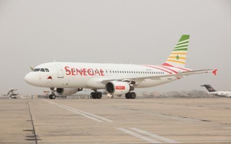Un avion de la compagnie aérienne, Sénégal Airlines.