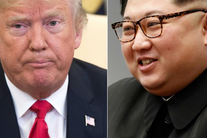 美國總統特朗普與朝鮮領袖金正恩