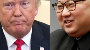 美国总统特朗普与朝鲜领袖金正恩