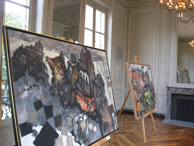 Картины Оскара Рабина на выставке в Меце