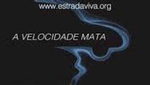 Cartaz de prevenção na estrada da www.estradaviva.org