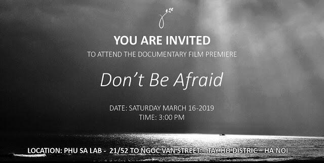 """Áp phích quảng cáo phim """"Don't be afraid, Đừng sợ"""""""