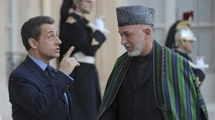 French President Nicolas Sarkozy and his Afghan counterpart Hamid Karzaï