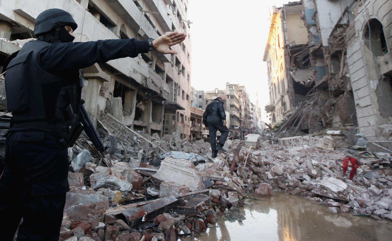 Vụ nổ tại Mansoura đã làm 14 người thiệt mạng - REUTERS /M. A. El Ghany
