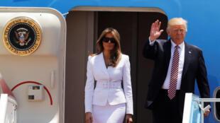 O presidente norte-americano, Donald Trump,  desembarcou nesta segunda-feira em Israel, 2ª etapa de uma viagem que também o levará aos Territórios palestinos, Vaticano, Bruxelas e a região italiana da Sicília, para as reuniões de cúpula da Otan e do G7.