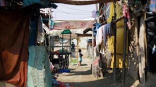 Des Rohingyas installés dans un camp de fortune à New Delhi, en Inde, le 4 octobre 2018.