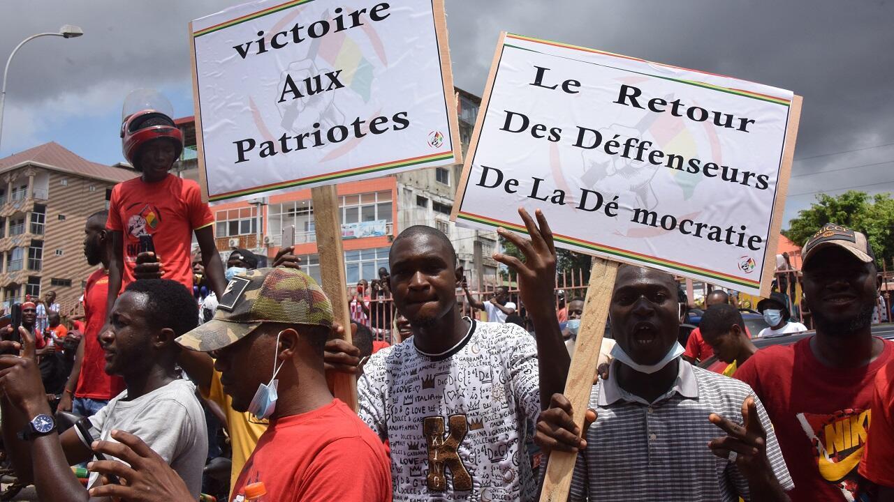 PHOTO Manifestants Guinée Conakry - 18 septembre 2021