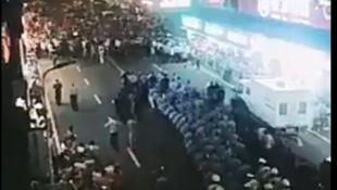 湖南耒陽示威者與警方對峙2018年9月2日