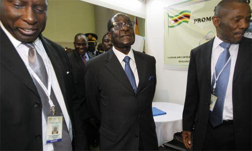 Zimbabwean President Robert Mugabe in Kuala Lumpur, Malaysia, earlier this month