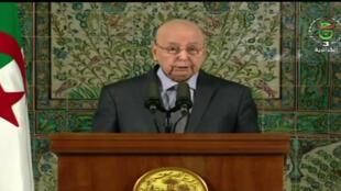 Rais wa mpito nchini Algeria  Abdelkader Bensalah