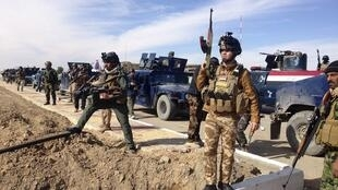 Important déploiement des forces de sécurité irakiennes dans la ville de Ramadi, le 2 février 2014.