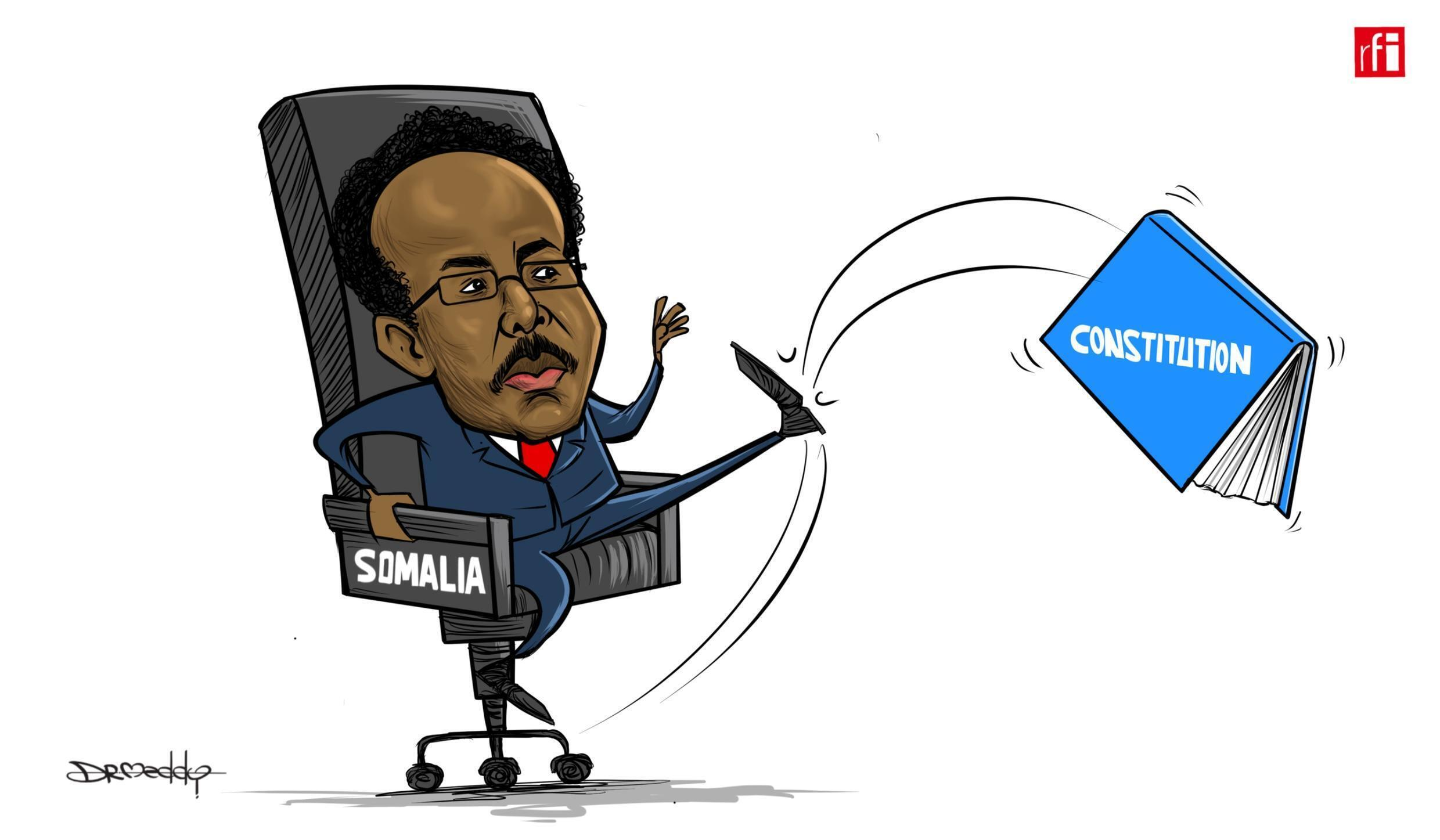 """Somalia: President """"Farmajo"""" signs a controversial law extending mandate for another two years. (16/04/2021)"""