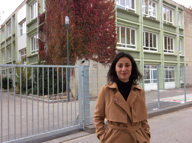 Roxane Paugam, directrice de l'école élémentaire Jean Vilar à Vaulx-en-Velin.