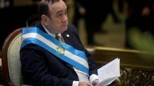 Alejandro Giammattei, le nouveau président du Guatemala.