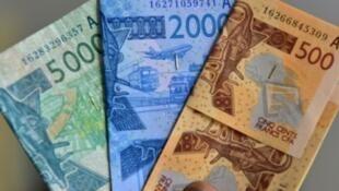 Des billets de Franc-CFA utilisés en zone UMEOA, en Afrique de l'Ouest. (Image d'illustration.