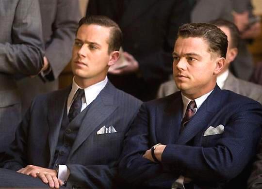 Ông Hoover và phụ tá Clyde Tolson trong bộ phim J.Edgar (DR)