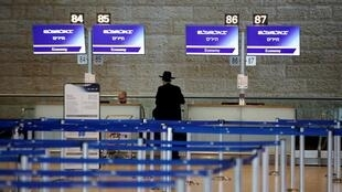 Le hall de l'aéroport de Tel Aviv, le 10 mars 2020.