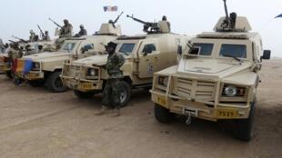 Soldats tchadiens à Kidal le 7 février 2013.